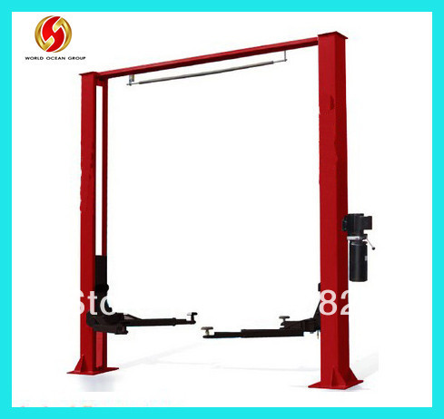 Two post clear floor hydraulic car lift(China (Mainland))