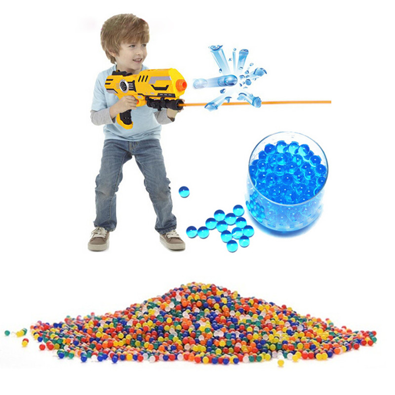 3000 Pcs Colorful Crystal Bullet Soft Bullet Water Gun Paintball Bullet Bibulous Orbeez Gun Toy Nerf Air Accessories Most Pisol(China (Mainland))