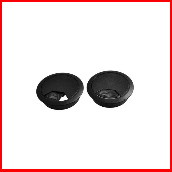 2x black 53mm round plastic grommets cable hole covers for for 3 furniture grommet