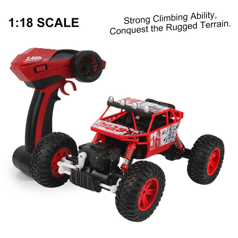 RC Car 1/18 2.4GHZ 4WD Radio Remote Control Road RC Car ATV Buggy Monster Truck Remote Control Climbing Vehicle Model Toy