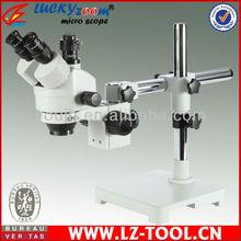 Envío gratis! 7X-90X boom solo soporte microscopio, digital microscopio zoom + 5 M de la cámara