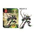 XSZ 611 3 Biochemical Warrior BionicleMask of Light Bionicle Umarak Hunter Building Block Minifigure Compatible with