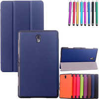 Sleep/Wake Function Pu Leather Cover For Samsung Galaxy Tab S 8.4 T700 T705 Cases Stand Card Slots Holder Fundas Coque+Pen
