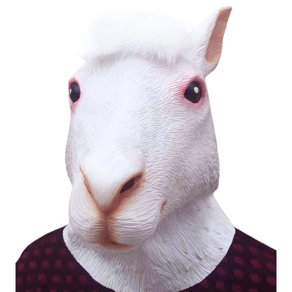 Alpaca Latex Mask Full Face Adult Masks Breathable Halloween Masquerade Fancy Dress Party Cosplay Costume Cute Mask(China (Mainland))