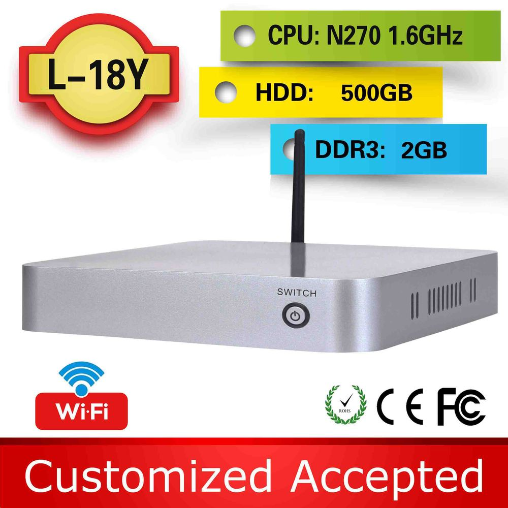thin client linux L18Y 1.6G HZ 2G RAM hdd 500g linux micro pc mini pc for car network media player support Graphics tablet(China (Mainland))