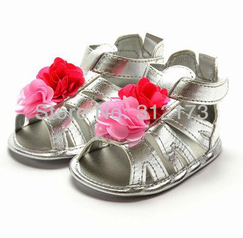 ---- petty girls sandals baby chiffon flower first walker shoes summer antiskid 1pair 04188-12 - lianliannishang store