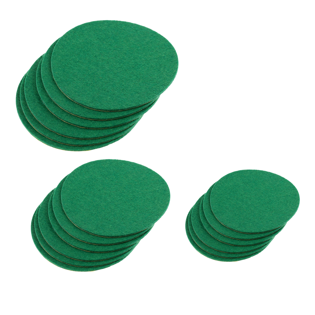6 Pieces Self Adhesive Fibreboard Air Hockey Table Pushers Replacement Felt Pads Indoor Air Hockey Accessories Green Choice Size