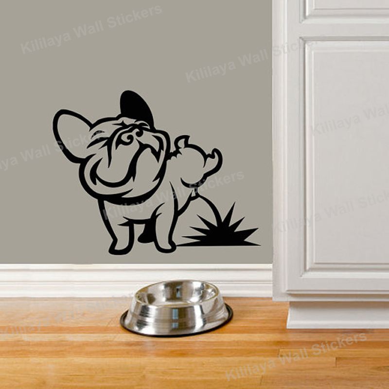 French Bulldog Wall Stickers Vinyl Wall Art Decal For Living Room Kids