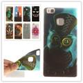 For Fundas Huawei P9 Lite Case Art Pattern Phone Bags Soft TPU Case For Coque Huawei