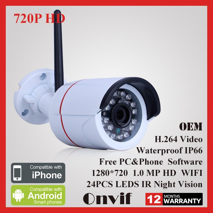 IP Camera WiFi 720P ONVIF Wireless Camara Video Surveillance HD IR Night Vision Mini Outdoor Security Camera CCTV System(China (Mainland))