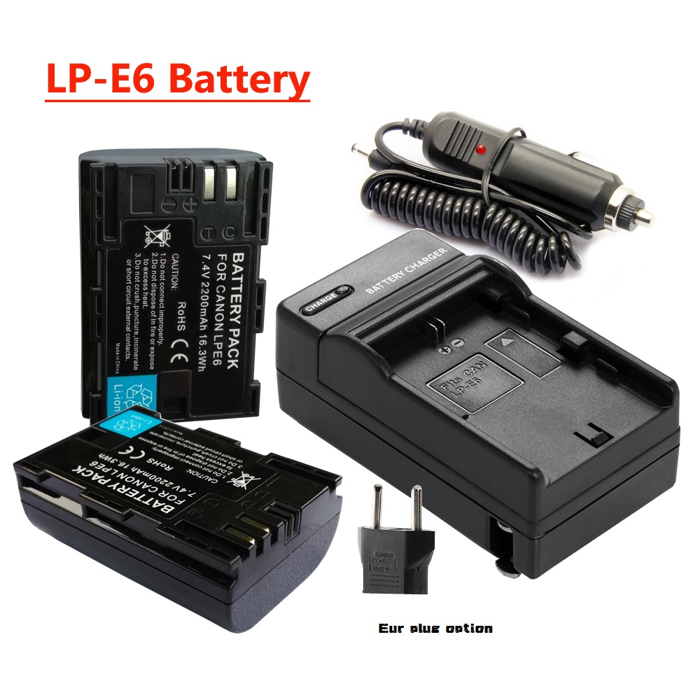 Hight Quality LP-E6 LP E6 Battery,LPE6 bateria+ Charger &car adapter Canon DSLR EOS 60D 5D3 7D 6D 70D 5D Mark III /II  -  H_K Gotrange Elec. Co.,LTD Store store
