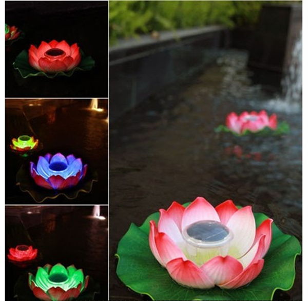An upgraded version of the pond colorful color floating lights, solar lotus lamp, waterproof LED night light, outdoor lighting<br><br>Aliexpress
