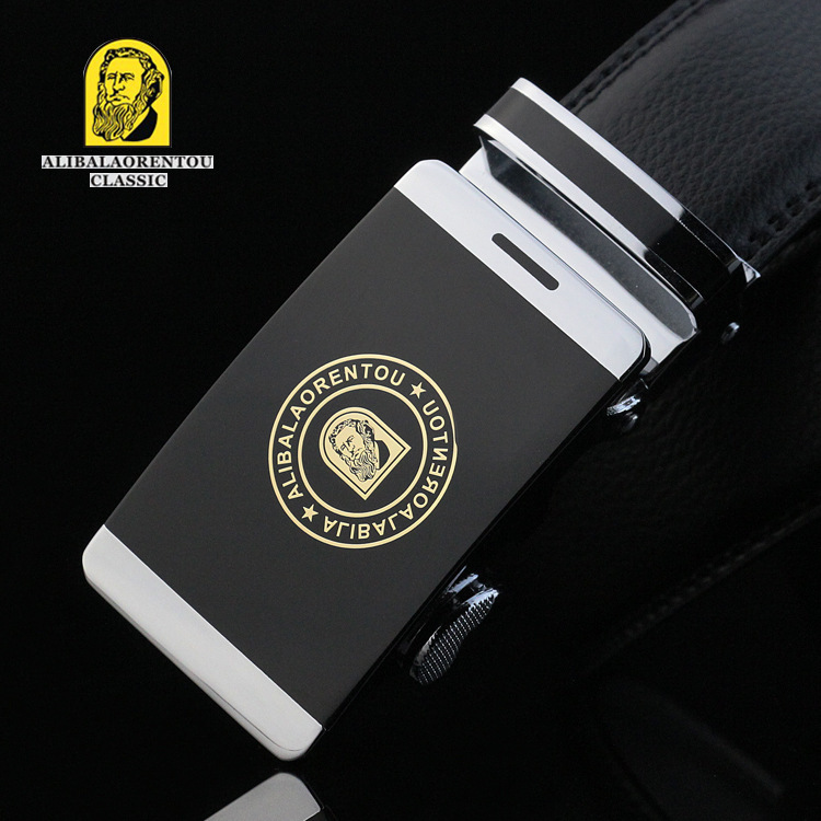 The explosion belt leather belt buckle leather belt men's luxury brand auto manufacturers selling.(China (Mainland))