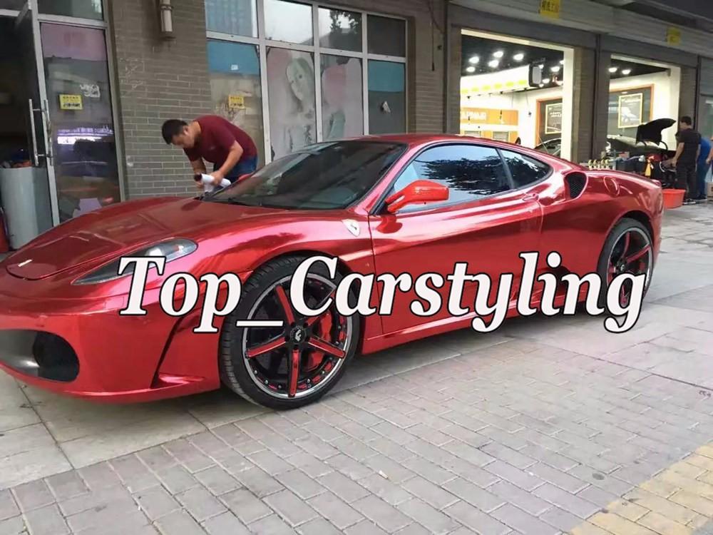 chrome mirror gloss red car wrapping vinyl film STM APA CHROME CAST WRAP high stretchable (1)