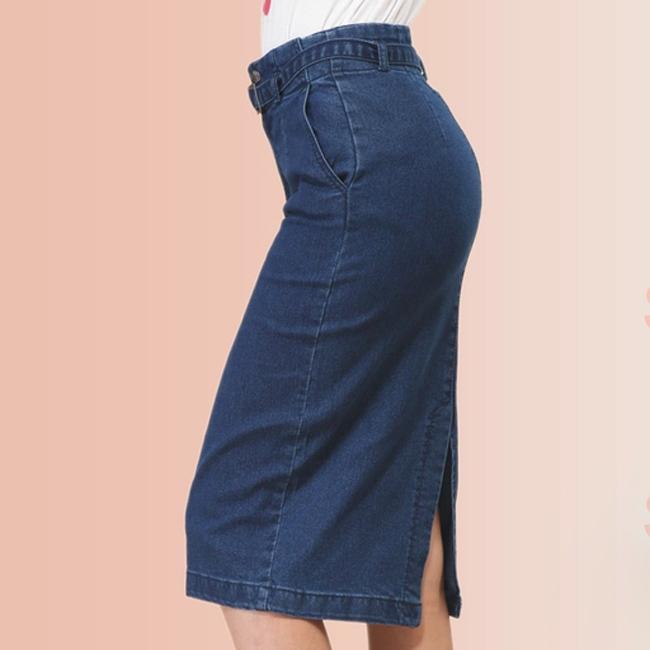 Новое поступление дамы джинсы юбки женский карандаш длинная юбка для женская джинсовая юбка темно-синий азии / Tag размер S-XL