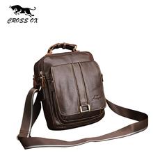 CROSS OX Business Men Genuine Leather Bag Natural Cowskin Men Messenger Bags Vintage Men's Cowhide Shoulder Crossbody Bag SL053M(China (Mainland))