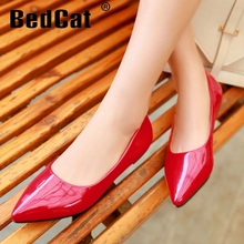 CooLcept free shipping flat casual candy color shoes women sexy dress footwear fashion lady P11816 hot sale EUR size 32-43