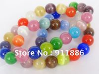 Fashion  Glass Beads NEW Arrival,Multicolor Chram Cat's Eye Beads,8mm Round Glass Beads Wholesale,Diy Accessories,Free Shipping