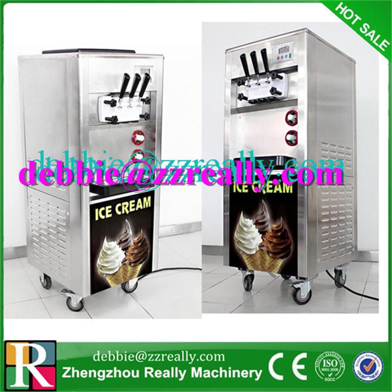 Soft Serve Ice Cream Maker Three Flavors Original Brand New Ice Cream Machines CE Certificate(China (Mainland))