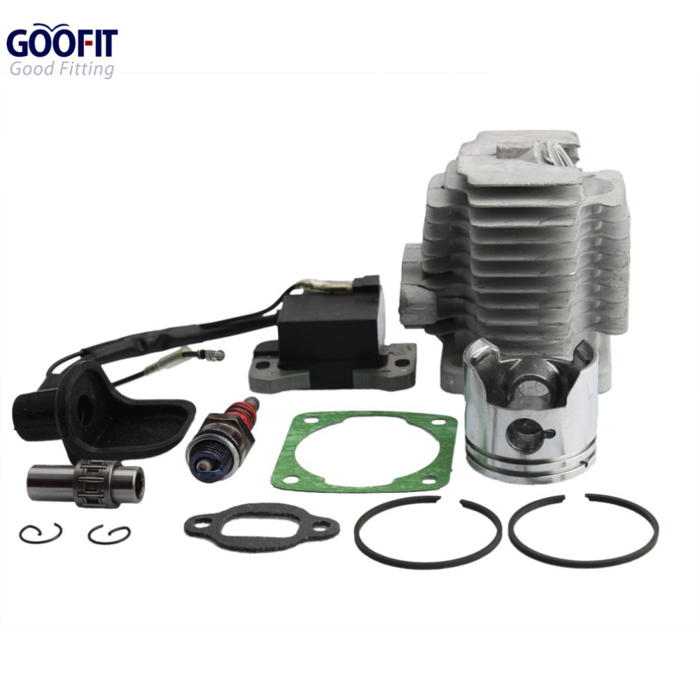 GOOFIT L7T Spark Plug Ignition Coil 44mm Cylinder Piston Kit for 49cc ATV and Pocket Bike ACCESSORY Group-46(China (Mainland))