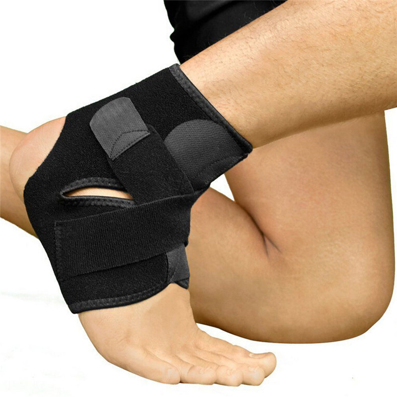 1PC Safety Ankle Support Gym Running Protection Black Foot Bandage Elastic Ankle Brace Band Guard Sport Tobilleras Deportivas(China (Mainland))