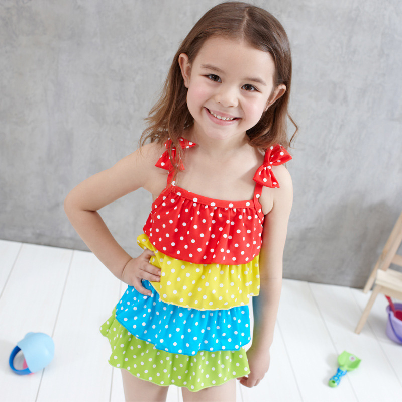 style Good Quality Girl swimsuit Child One piece swimwear Girls bathing suit hotspring Contrast Color pieces - Miss Yes Fashion Co., LTD store