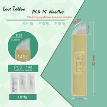 PCD14Pin Needle Permanent Makeup Manual Eyebrow Blade For Tattoo Eyebrow Microblading Pen 3D Embroidery(China (Mainland))