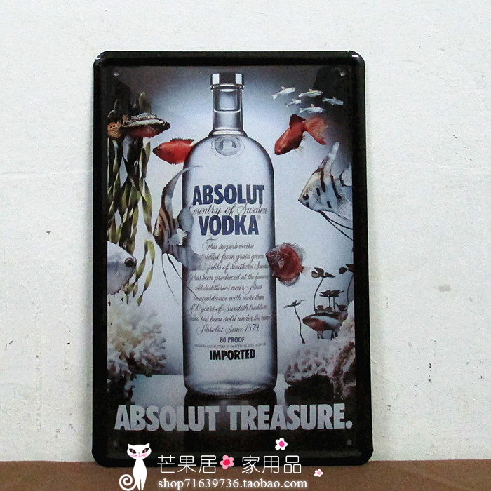 ABSOLUT VODKA Tin Signs Antique Metal Poster Wall Decor Iron Painting BAR CLUB HOME Hanging FREE SHIPPING(China (Mainland))