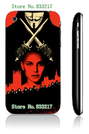 Plastic White Phone Case for IPHONE 3 3GS free shipping Mobile Phone Bags & Cases Brand New Arrive Customized Design(China (Mainland))