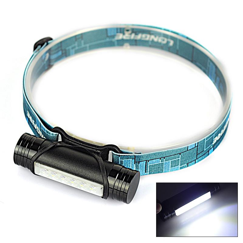 6 cree leds 3800 lumen usb power band + 3800 mAh rechargeable battery flashlight headlamp band torch light camp lantena led(China (Mainland))