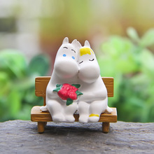 Moomin Valley Doll Toys Moomin Snorkmaiden Anime Cartoon PVC Action Figures Kids Toy Gift For Boys Girls