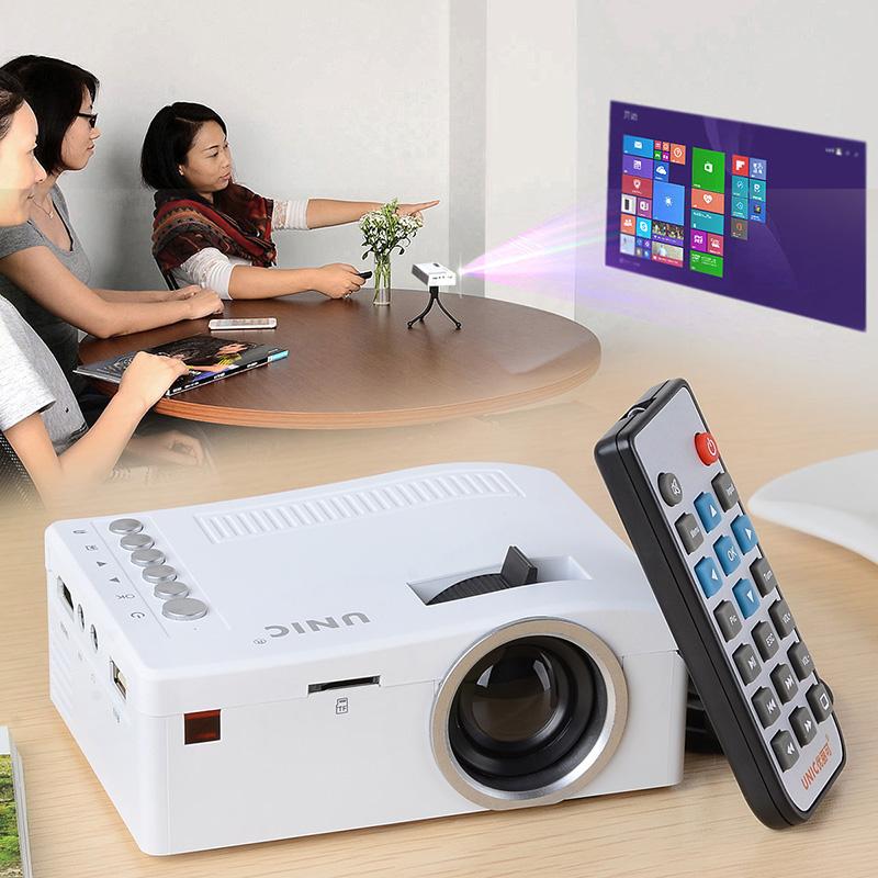 New  Projector 12-66 inches  Mini Portable 080P Portable Mini LED Projector w/ USB / HDMI / AV / TF Slot   Projector<br><br>Aliexpress