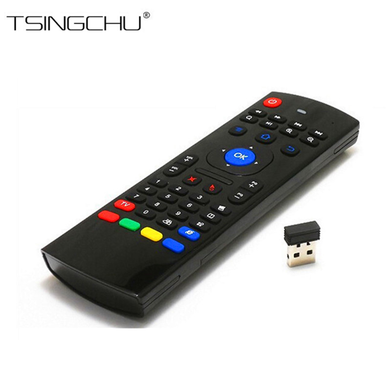 100 Original 2 4G Wireless Remote MX3 Fly Air Mouse Keyboard With Mic Remote Control With