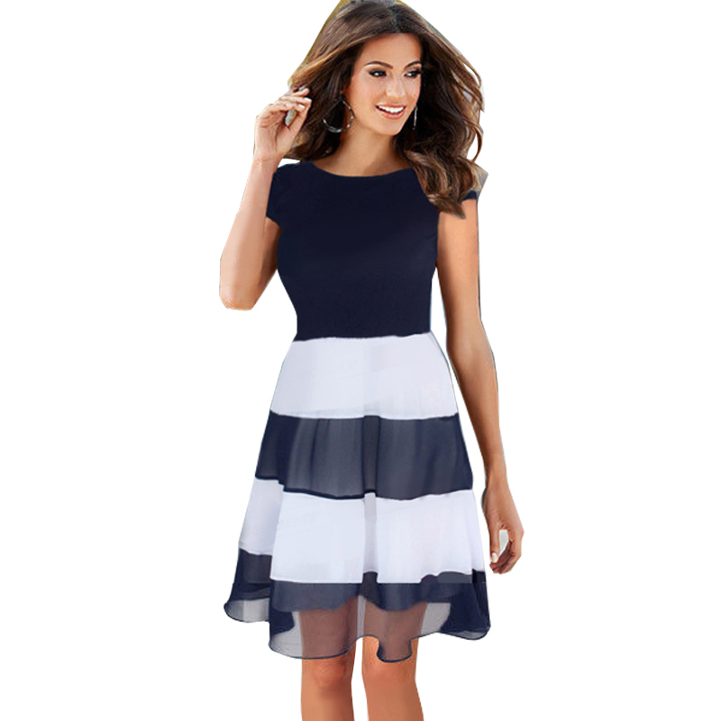 Perfect Style New Arrival 2015 Spring Summer Fashion Show Women Dot Dress