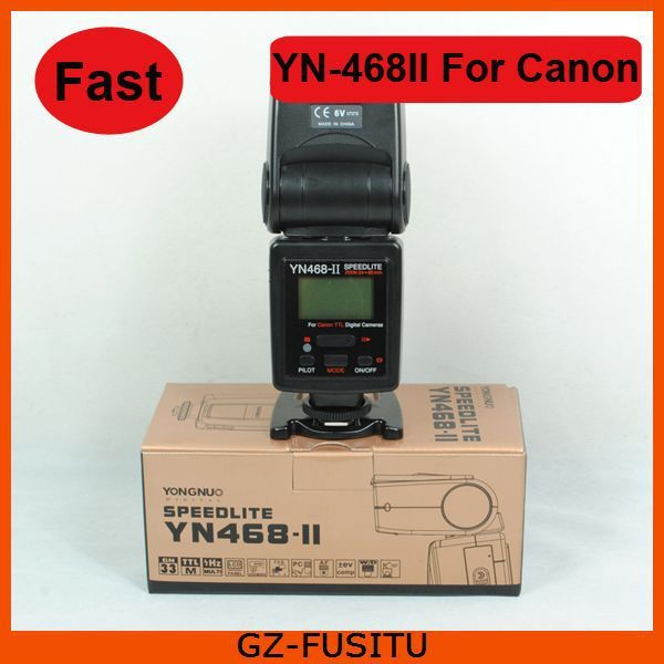 FAST SHIPPING Yongnuo YN-468 II YN-468II ETTL II DSLR Camera Flash Speedlight for Canon 60D 50D 40D 30D