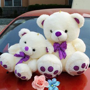 30cm wholesale and retails Christmas gift plush toys teddy bear soft stuffed toys factory supply freeshipping(China (Mainland))