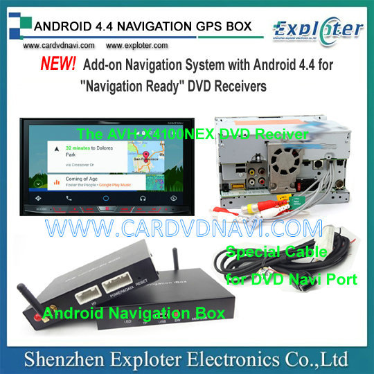 Android 4.4 NAVIGATION GPS BOX for AVH-4100NEX  with 3G WIFI WAZE Google Map(China (Mainland))