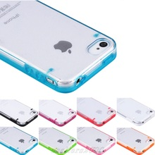 ULAK Hard Plastic Back Cover and Soft Frame Slim Crystal Clear Protective Case for iPhone 4 iPhone 4S(China (Mainland))