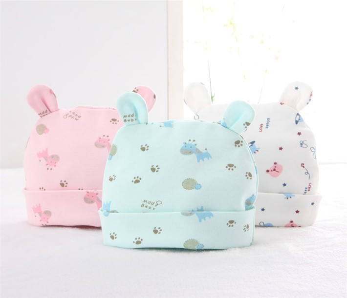 Free Shipping, 3pcs/lot bebes baby hat, 100% cotton casquette enfant baby caps, cute soft newborn hat gorro bebe(China (Mainland))