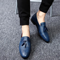 big men shoes casual shoes fashion 38-48 men loafers luxury leather Lace-Up flat driving shoes men 5 color optional In 2017, the