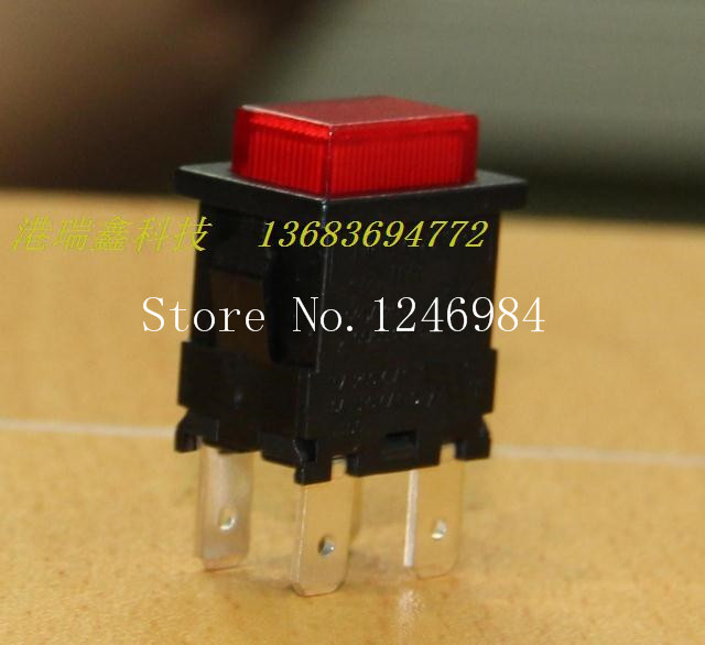 [SA]Trigger button -Taiwan group Rocker button switch dual red lights no no lock reset switch LC8306--50pcs/lot<br>