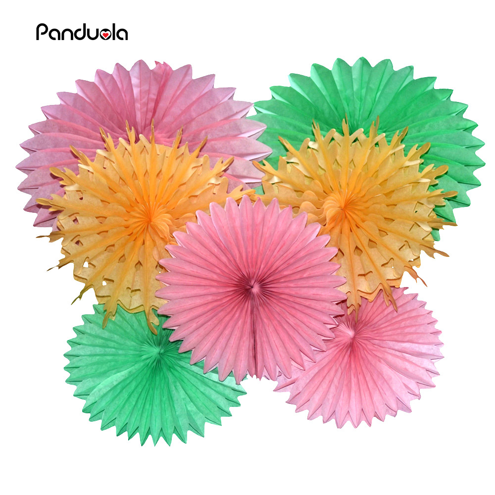 Free Ship 15pcs/Lot 20cm Paper Fan Event & Party Supplies/ Birthday Party Decorations Kids Cheap Paper Flower Fans(China (Mainland))