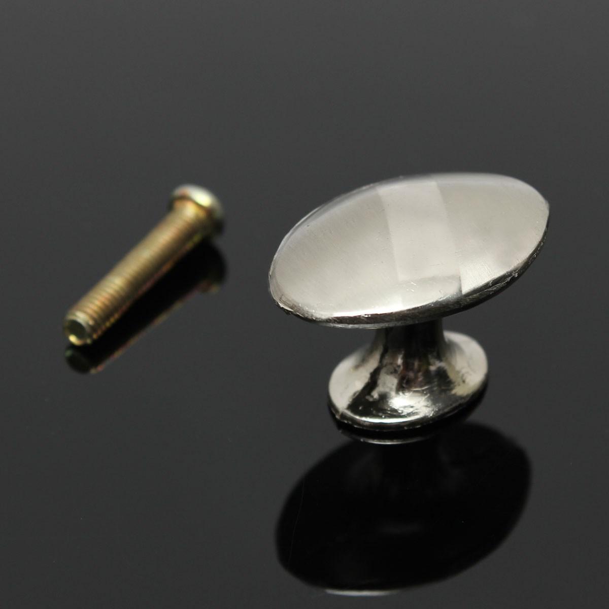 New 30mm Stainless Steel Zinc Satin Knob Pull Handle Kitchen Cabinet Hardware +Screw(China (Mainland))