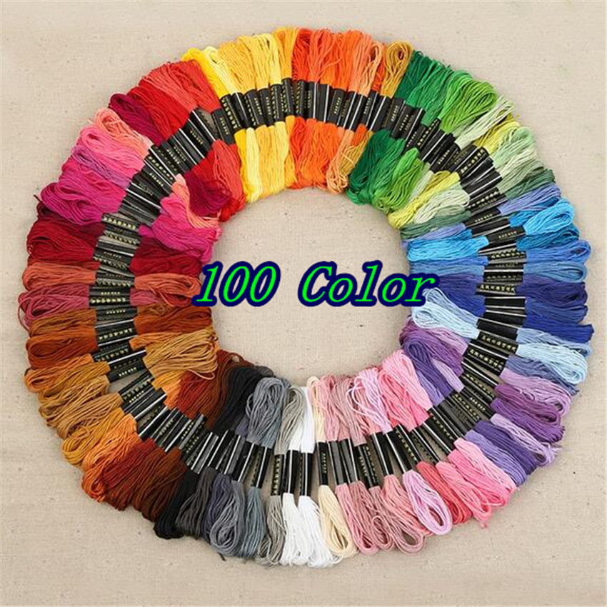 1Set 100PCS colors Anchor Cross Stitch Polyester Embroidery thread / Cross Stitch threads / Free Shipping BF023(China (Mainland))