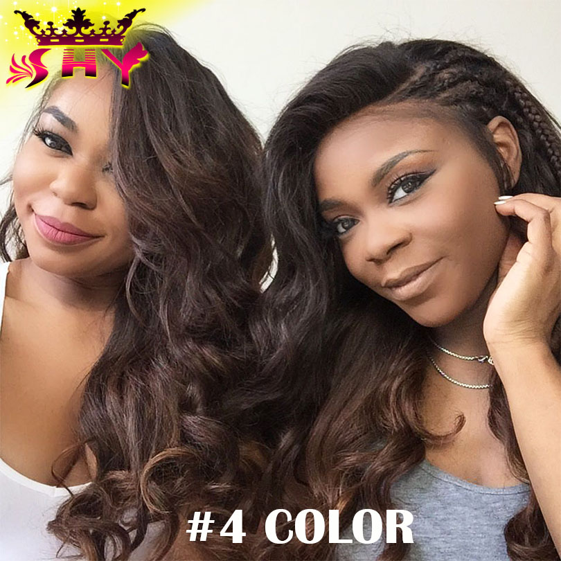 VIRGIN HAIR Fantasy Body Wave Full Lace Wig With Baby Hair Gluless Lace Front Wigs Full Lace Human Hair Wigs For Black Women
