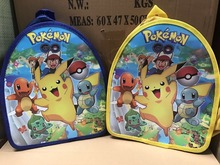 Buy 1pc 29x23x13cm Pokemon go Pikachu backpack shopping bag Cartoon Cute Mini schoolbag Pink Pig kid Supplier Party Favor for $3.44 in AliExpress store