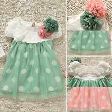 Baby Girls Polka Dot tutu Beauty Clothes Newborn Baby Summer Beauty 2015 New(China (Mainland))