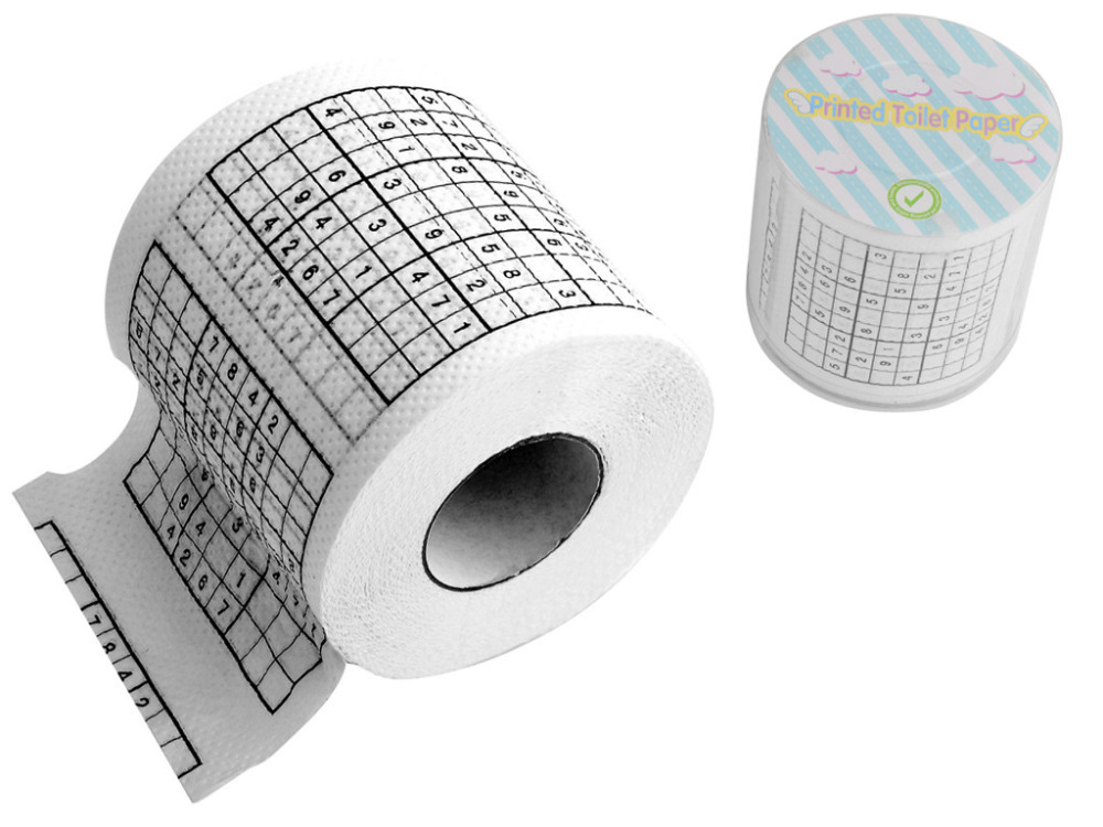 3 pcs/ lot Sudoku Puzzle Game Toilet Paper Toilet Tissues Roll H741001*3(China (Mainland))