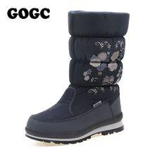 Gogc Giày Bốt Nữ Mùa Đông Nữ Mùa Đông Của Giày Cao Cổ Nữ Ủng Mùa Đông Nữ Giày Chống Nước Mắt Cá Chân Giày giày Đế Bằng 9620(China)