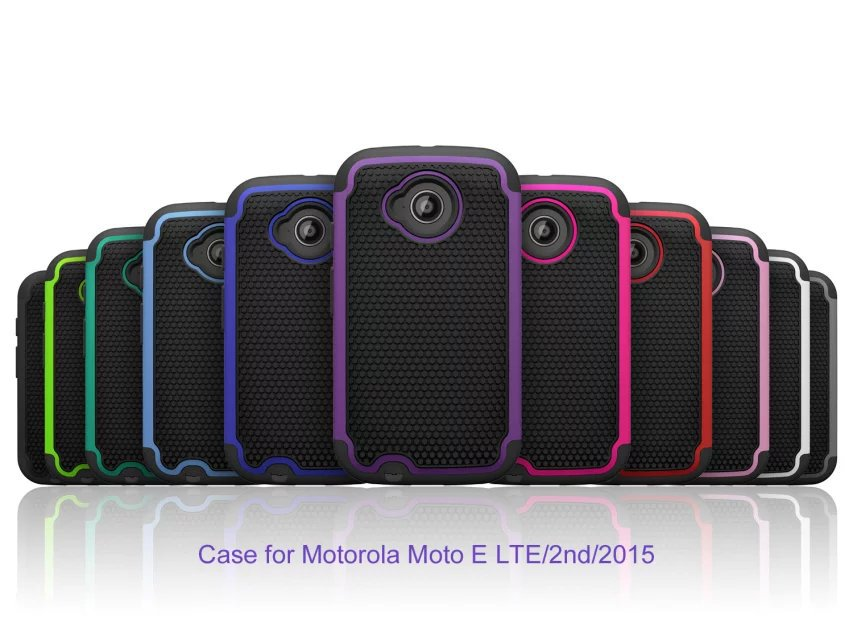 New fashion Kickstand Plastic + TPU Hybrid Shell for Motorola Moto E2 XT1505 E+1 free shipping for MOTO E2 mobile phone bag(China (Mainland))